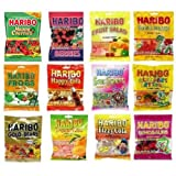 Haribo Gummy Gummies Candy Assorted Variety (Pack of 12)