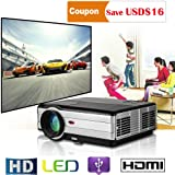 Home Theater LCD LED Projector 3500 lumens HD 1080P Video Projectors, 5.8