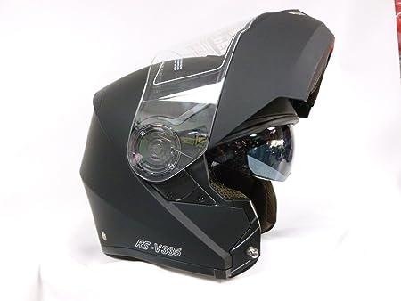 Casque de Moto V335 Modulable Casque Scooter Casque Touring Quad Casque Noir Mat M