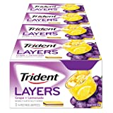 Trident Layers Sugar Free Gum (Grape Lemonade, 14-Piece, 12-Pack) (Tamaño: Pack of 12)