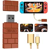 8Bitdo Wireless Controller Adapter For Nintendo Switch, Windows, Mac and Raspberry Pi,Compatible with all 8Bitdo Controllers, with a OTG Cable (Color: Sliver)