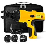 Crimping Tool Battery Powered Crimper Tool Kit for Cable Wire Terminals Connectors Non Ratcheting Crimping Tool For Electricians Contractors, Repair Supports Wiring Projects By Kuicut (Tamaño: Medium)