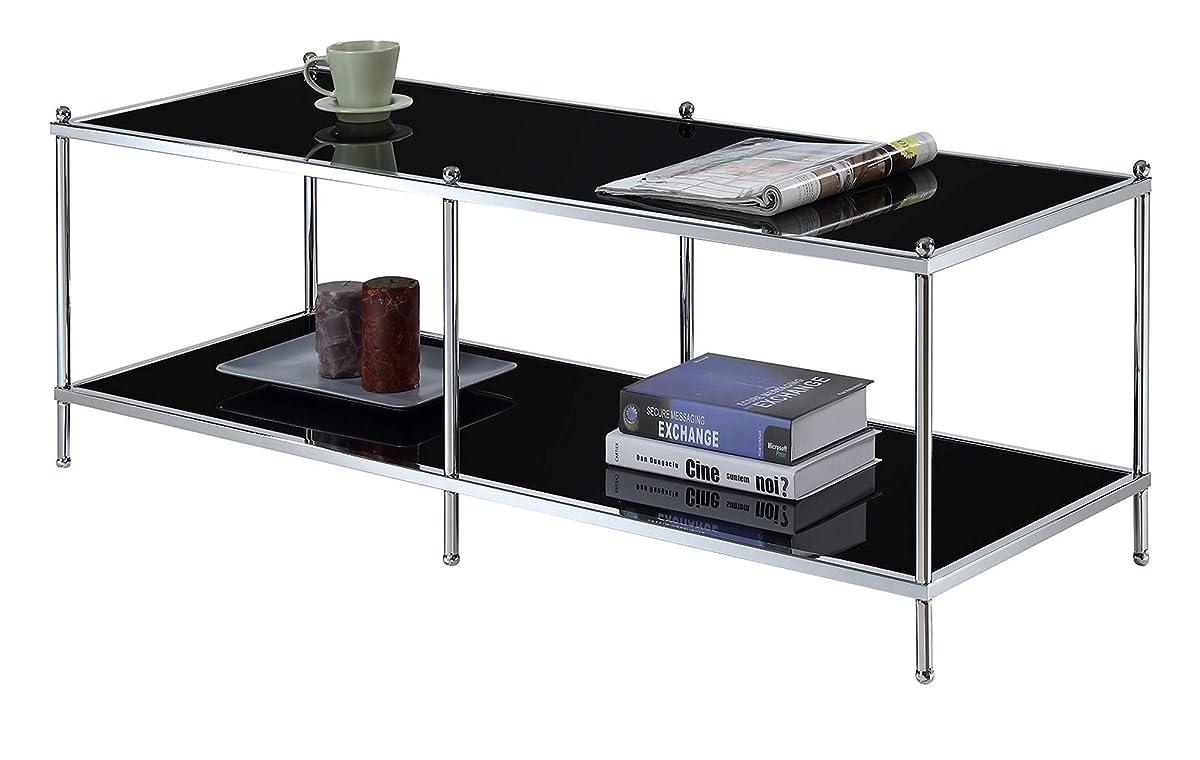 Convenience ConceptsRoyal Crest Coffee Table, Chrome/Black Glass