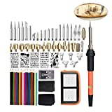 SUPVOX 71Pcs Soldering Iron Kit 110V/60W Soldering Welding Iron Kit Welding Tool for Pyrograph with Carry Case and 18 Colorful Pencils (Orange Soldering Iron US Plug) (Color: Orange, Tamaño: Size 1)