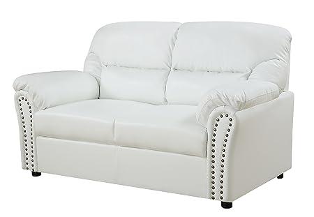 Glory Furniture G267-L Living Room Love Seat, White