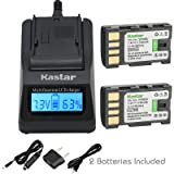 Kastar Fast Charger and Battery 2-Pack for JVC BN-VF808 BN-VF808U and GZ-MG177 GZ-MG230 GZ-MG255 GZ-MG275 GZ-MG330 GZ-MG335 GZ-MG340 GZ-MG360 GZ-MG365 GZ-MG430 GZ-MG435 GZ-MG465 GZ-MG555 GZ-MG575 (Color: 13 (COMBO: 2 BATTERIES + 1 ULTRA FAST CHARGER KIT))