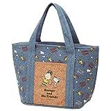 Skater Peanuts Snoopy Cooler Bag w/Cork Pocket Denim Like KBCO3