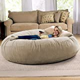 Jaxx 6 Foot Cocoon - Large Bean Bag Chair for Adults, Camel (Color: Camel, Tamaño: 6-Foot)