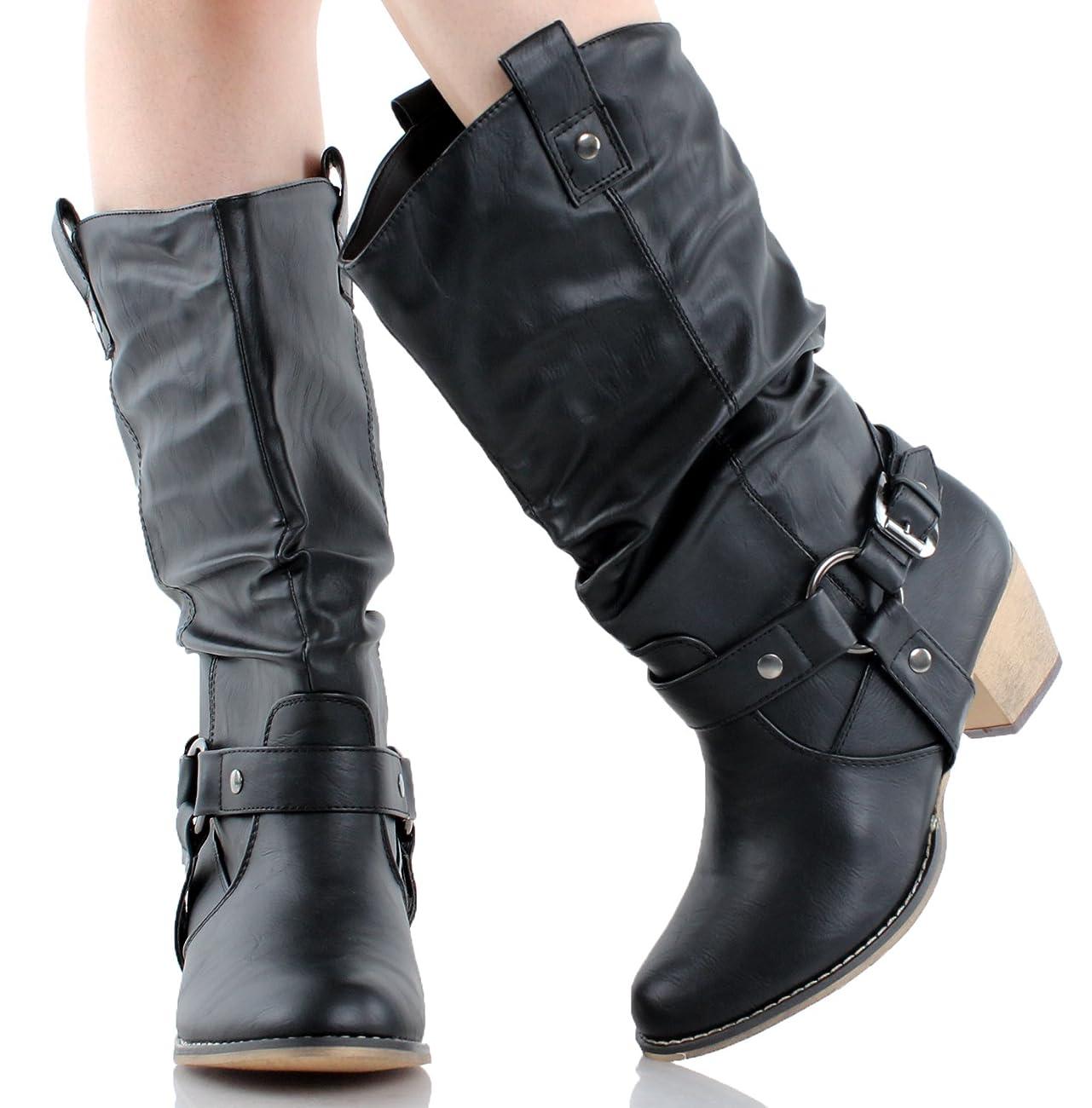 Refresh Women Wild-02 Western Style Cowboy Boots 4
