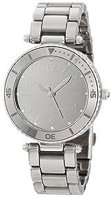 Anne Klein Women's 10/9983TMTC Swarovski Crystal Accented Titanium-Tone Ceramic Bracelet Watch
