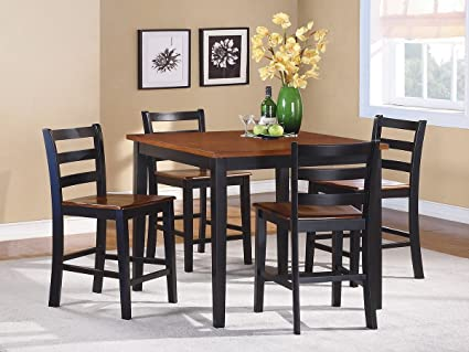 Woodbridge Home Designs Lynn 5 Piece Counter Height Dining Set