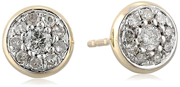 10k-Yellow-Gold-Diamond-Stud-Earrings-1-4-cttw-I-J-Color-I2-I3-Clarity-