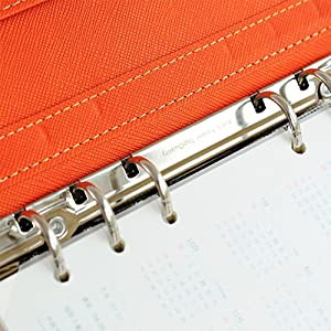 Labon's A5 Filofax with Button 6 Round Ring Binder Planner Refills has Monthly Weekly Daily Schedule 2019 2020 2021 Calendar/Telephone & Address/Personal Memo 120 Sheets Light Blue (Color: Light Blue, Tamaño: A5)