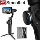 [2018 Verson] Zhiyun Smooth 4 3-Axis Handheld Gimbal Stabilizer w/Focus Zoom Capability for Smartphone Like iPhone X 8 Plus 7 6 SE Samsung Galaxy S9+ S9 S8+ S8 S7 S6 Q2 edge new Smooth-Q/III (Black) (Color: Black)