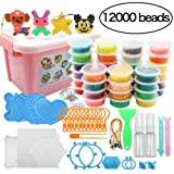 Beads Toy Water Fuse Beads Kit 12000 Pieces Magic Water Sticky Beads 36 Colors Water Spray Beads Set Compatible with Art Crafts Toys (Color: Multicolor)