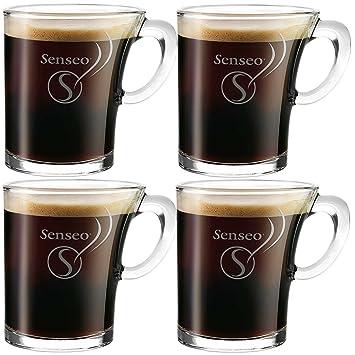 4x douwe egberts senseo tasse tasse en verre design 180ml cuisine 180ml cuisine maison. Black Bedroom Furniture Sets. Home Design Ideas