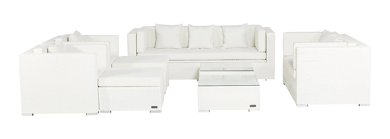 Outflexx große Gartenmöbel Set, S1040 Polyrattan w29 Box, weiß
