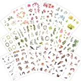 1000Art Nature Stickers Set(18 Sheets / 200+) Flowers Leaves Birds Stickes for Cards,DIY Arts and Crafts,Life Daily Planner,Journals,Scrapbooks,Calendars, Album (Color: Bird Flower Plant Sticker Pack)