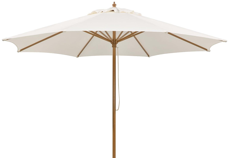 Schneider Sonnenschirm Malaga, natur, ca. 300 cm Ø, 8-teilig, rund jetzt kaufen
