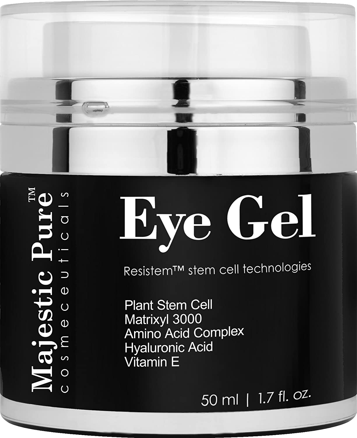 Majestic Pure Anti Aging and Skin Firming Eye Gel for Dark Circle, Wrinkles, Eye Puffiness, Loss of Tone and Resilience, 1.7 fl. oz