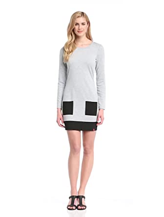 edc by esprit womens Casual Moulante Femme - Gris - Stone Grey Melange - FR : S (Taille fabricant : Small)
