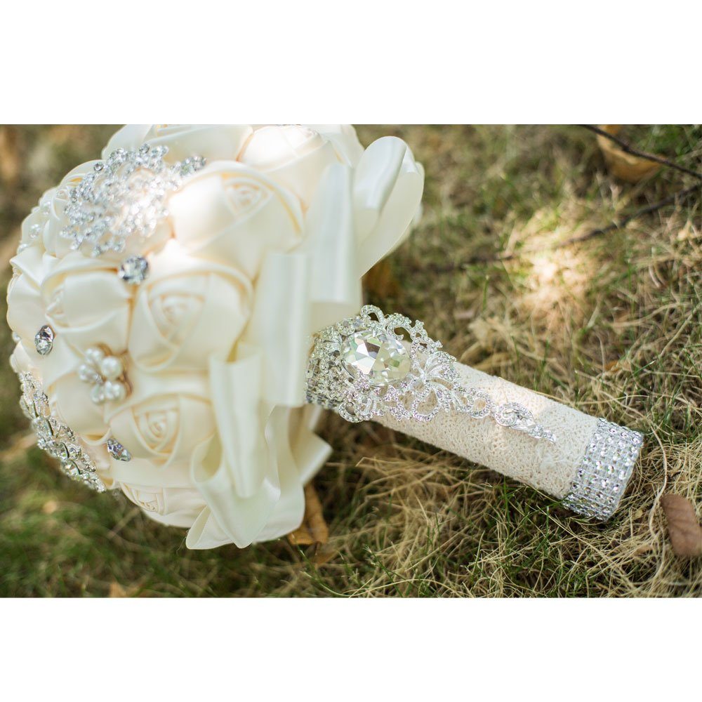 [MY DARLING] Advanced Customization Romantic Bride Wedding Holding Bouquet Roses Multi-color Selection-ivory