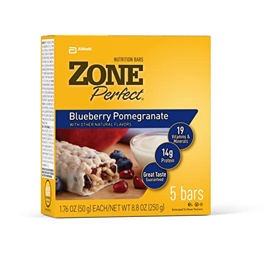 Отзывы ZonePerfect Fruitified Nutrition Bars, Blueberry Pomegranate, 1.76-Ounce, 20 Count