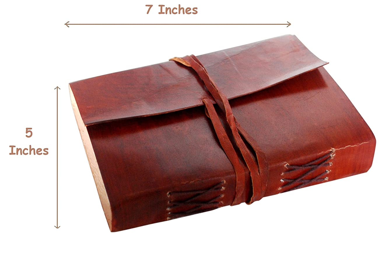 Red Vintage Leather Journal Notebook Diary gifts for men women him her sale 0