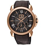Seiko premier limited edition SNP146P1 Mens japanese-automatic watch (Color: brown)