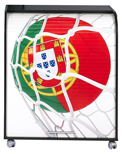 Simmob must095no966 966 Ball World Cup Portugal Computer Desk Black Wood 53.2 x 79.2 x 93,8 cm