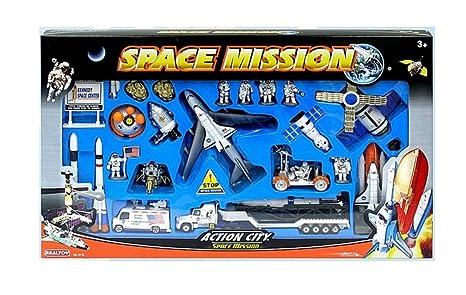 Coffret Espace NASA 28 Pièces Maquettes Fusée Module Lunaire Navette Spatiale Satellite