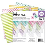 We R Memory Keepers Clearly Bold 6 X 6 Inch Acetate Paper Pad (Tamaño: 6-x-6-Inch)