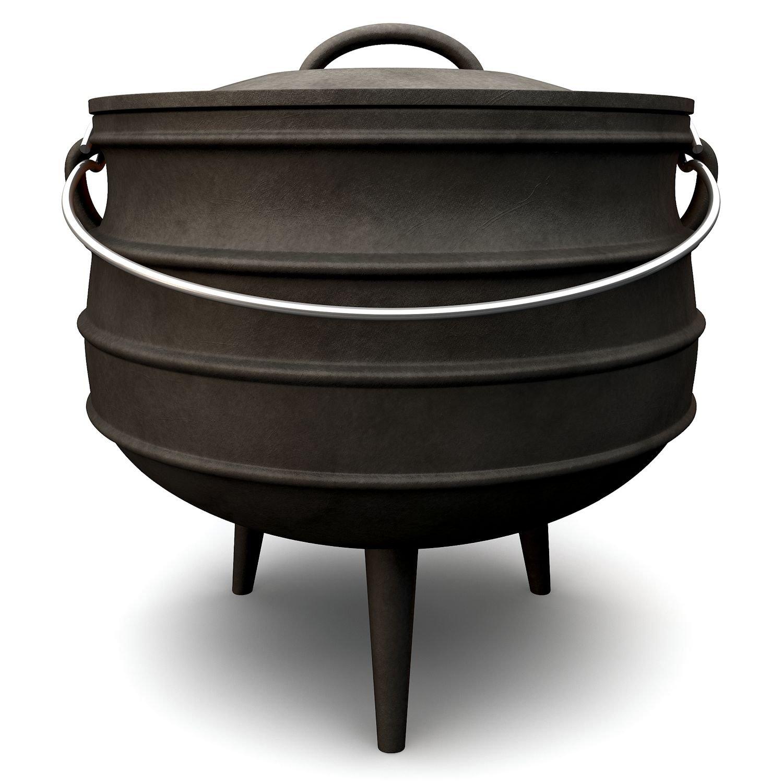 Potjie, verschiedene Größen zur Auswahl, Gusseisen Kochtopf, Südafrikanischer Dutch Oven (Potjie #6 (ca. 14 Liter)) günstig kaufen