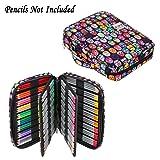 BTSKY Portable Colored Pencil Case - Colored Pencil Organizer Holds 166 Pencils or 112 Gel Pens Large Capacity Zippered Pencil Holder Gel pens (Mask) (Color: Mask)