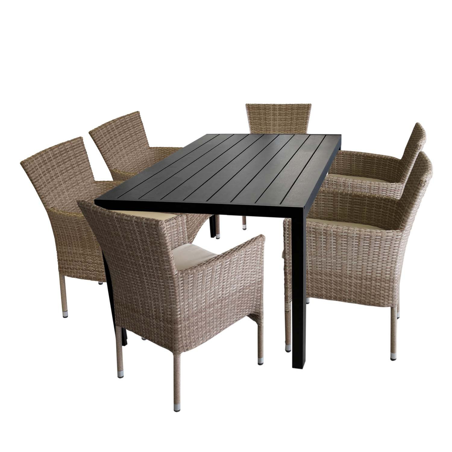 wohaga gartenm bel balkonm bel terrassenm bel bistro set 3 teilig gartengarnitur sitzgruppe. Black Bedroom Furniture Sets. Home Design Ideas