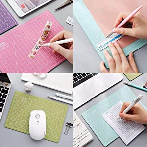 4 PCS Double Sided Self Healing Cutting Mat, Rotary Cutting Board with Grid & Non Slip Surface, Rotary Cutter for Craft, Fabric, Quilting, Sewing, Scrapbooking Project (Color: 4 PCS)