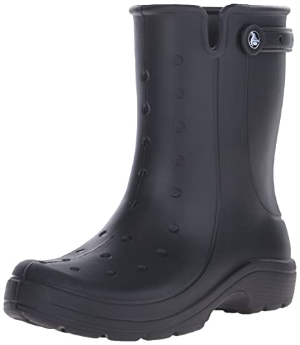 crocs Women's Reny II Rain Boot, Black, 12 US/Mens 10 M US