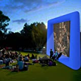 Evokem Airblown Outdoor Inflatable Movie Screen for a Backyard Theater (Blue-2) (Color: Blue-2)