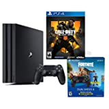 PlayStation 4 PRO Battle Royale Bundle: Fortnite Royale Bomber Outfit (500 V-Bucks), Call of Duty Black Ops 4, PlayStation 4 Pro 1TB 4K HDR Console with Extra Black Dualshock 4 Wireless Controller