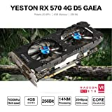 Kanzd Yeston Geforce GTX 1050Ti GPU 4GB GDDR5 128 Bit Gaming PC Video Graphics Cards (B) (Color: B, Tamaño: Regular)