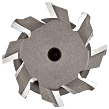 "Niagara Cutter TS109 T-Slot Shank Type Cutter, High Speed Steel, Uncoated (Bright), Weldon Shank, 10 Helix Angle, 1-1/4"" Cutter Diameter, 8 Tooth, 31/64"" Width"