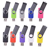 LHN® (Bulk 10 Pack) 2GB Swivel USB Flash Drive USB 2.0 Memory Stick (9 Colors)