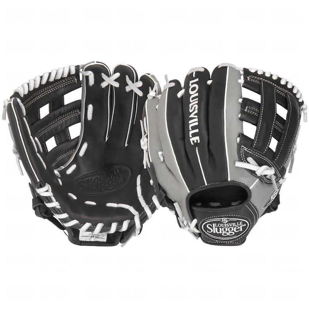 Louisville Slugger 29,2FG Omaha Select Baseball Infielders Handschuhe, Schwarz/Grau, rechte Hand Überwurf