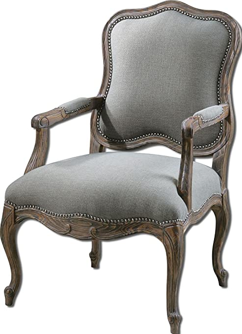 Uttermost Willa Steel Gray Armchair