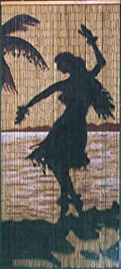 Hula Girl Silhouette Beaded Curtain 125 Strands