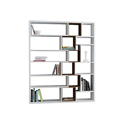 Libreria Roscoe Bianco e Walnut - M.KT.02.11007.1
