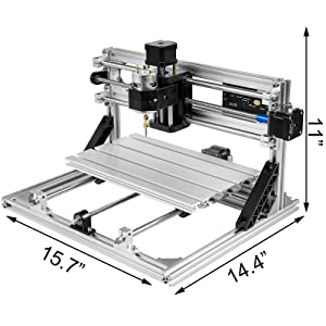 Mophorn CNC Machine 3018 GRBL Control Wood Engraving Machine 3 Axis CNC Router with 500mw Laser Engraver Offline Controller Milling Machine for Wood PVCs PCBs (Tamaño: 300X180mm with Offline Controller)