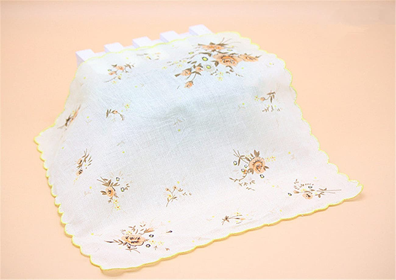 Colorful Women Quadrate Floral Handkerchiefs Wedding Party Fabric Hankies 6