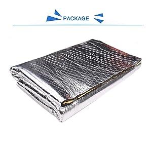 uxcell 394mil 10mm 32.72sqft Car Heat Sound Deadening Deadener Insulation Mat Liner