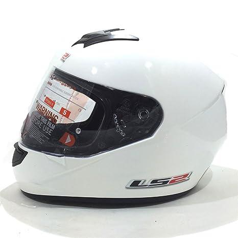 Moto Casque LS2-Mono Casque intégral Racing casque Blanc M